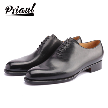 Leather Shoes Men Oxford Real Genuine Leather Custom Fashion Office Dress Wedding Luxury Brand Formal Party Mens Derby Shoe luxury brand designer genuine leather mens wholecut oxford shoes for men black brown dress shoes business office formal shoes