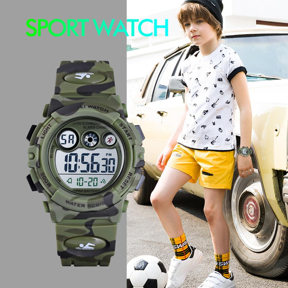 SKMEI Sport Kids Watches 50M Waterproof Children's Young Energetic Dial Design Colorful LED+EL Lights Relogio Infantil 1547