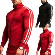 HEFLASHOR Autumn Jogging Sweatshirts Men Sports Fitness Long