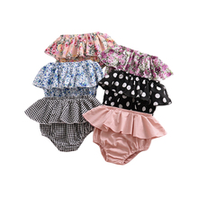 Newborn Triangle Baby Shorts Ruffles Girls Panties Infant Clothes Toddler Kids Casual Pants Children Floral Plaid Diaper Covers