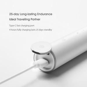 Image 5 - Xiaomi Mijia sonic חשמלי מברשת שיניים T300 USB שן מברשת Ultra sonic עמיד למים שן מברשת מסטיק בריאות שיניים להלבין עמוק נקי