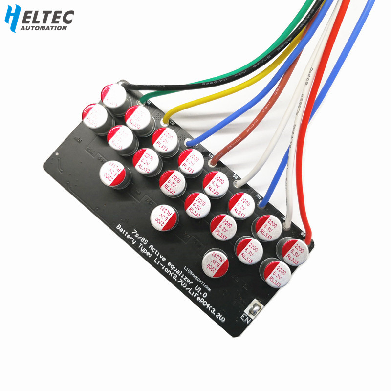 5A Active Equalizer Balancer 3S 4S 7S 6S 8S Lifepo4 Lithium Lipo LTO Battery Energy Active Equalization Module Fit Capacitor