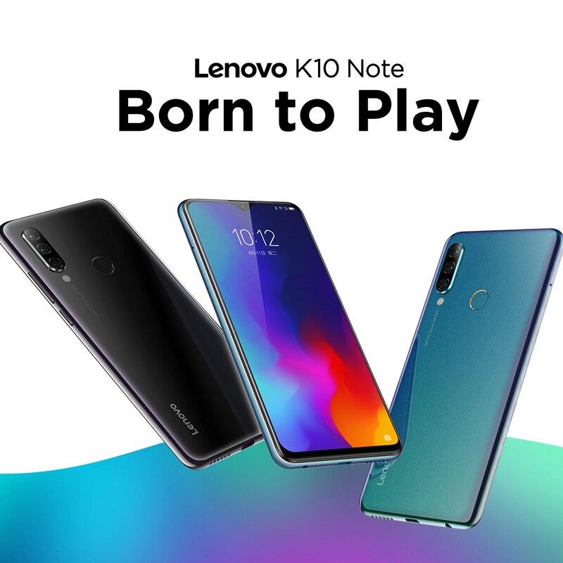Versão global lenovo k10 nota (z6 lite) snapdragon 710 octa núcleo smartphone 6.3 Polegada triplo câmera android 9.0 carga rápida|Celulares| - AliExpress