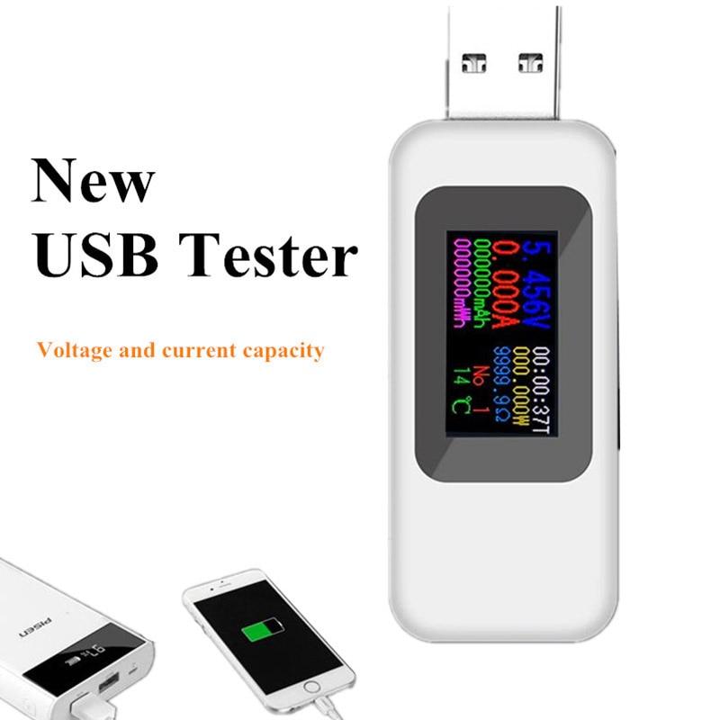 10 In 1 USB Tester DC Digital Voltmeter Amperimetro Current Voltage Meter Amp Volt Ammeter Detector Power Bank Charger Indicator