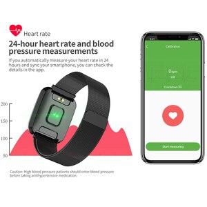Image 4 - Femmes montre intelligente IP68 étanche smartwatch moniteur de fréquence cardiaque Sport Fitness montre appareils portables pour ios Android cadeau sangle