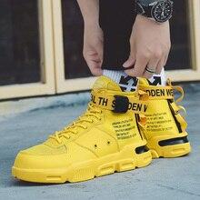 COOLVFATBO Men Vulcanized Shoes 남성용 운동화 클래식 레이스 업 하이 스타일 봄 가을 플랫 캐주얼 신발 남성용