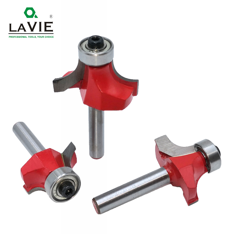 "Image 3 - 5pcs 6mm 1/4"" Shank Corner Round Over Router Bit with Bearing Cleaning Flush Milling Cutter for Wood Woodworking Tool MC01065-in Milling Cutter from Tools"