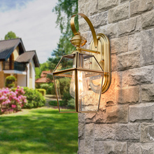 TRAZOS E27 copper Waterproof Outdoor Led Wall Lighting Indoor Porch LED Wall Lamp Energy-saving WW/WH Garden Outdoor Light retro super bright led solar pillar lights waterproof outdoor garden porch lamp energy saving lighting luminaria decoration