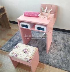 الشمال بسيط الصلبة الوردي والأبيض اللون دائم واحد مزدوج مانيكير مكتب مكتب كرسي ألواح حبيبية 60x40x75cm