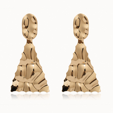 Pendientes colgantes de moda 2019 nuevos pendientes de hierro triangulares dorados para mujer
