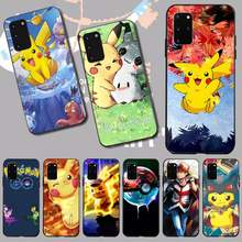 PENGHUWAN cartoon pokemons eevee pika pikachu Soft Silicone Phone Cover for Samsung S20 plus Ultra S6 S7 edge S8 S9 plus S10 5G(China)