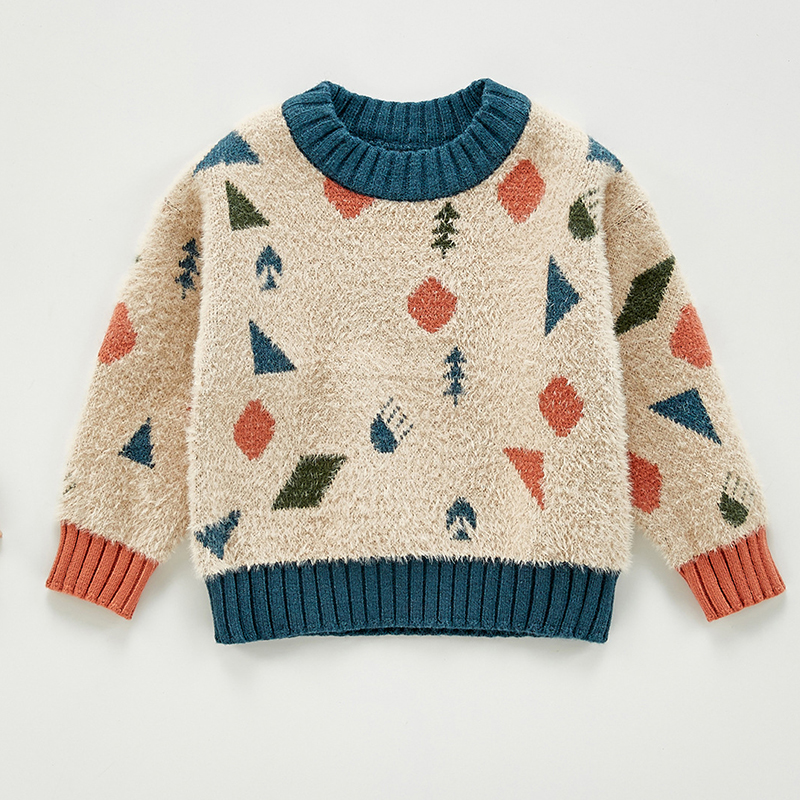 Autumn Baby Girls Boys Knitted Sweater Toddler Girls Boy Casual Cartoon Warm Cotton Sweaters Coat Kids Pullovers Sweaters 2