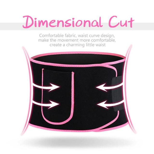 Durable Fitness Waist Belt Classic Delicate Texture Hit Color Neoprene Weight Loss Sweat Waistband Training Waist Support 3