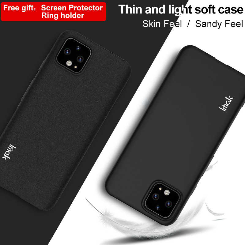 IMAK For Google Pixel 4 XL Case Shockproof Silicone Soft Transparent TPU Case Back Cover Case For Google Pixel 4 Pixel4 XL