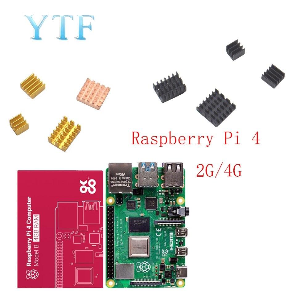 2019 nouveau Raspberry Pi 4 modèle B RAM 1G 2G 4G 4 core 1.5Ghz 4K Micro HDMI avec dissipateur thermique