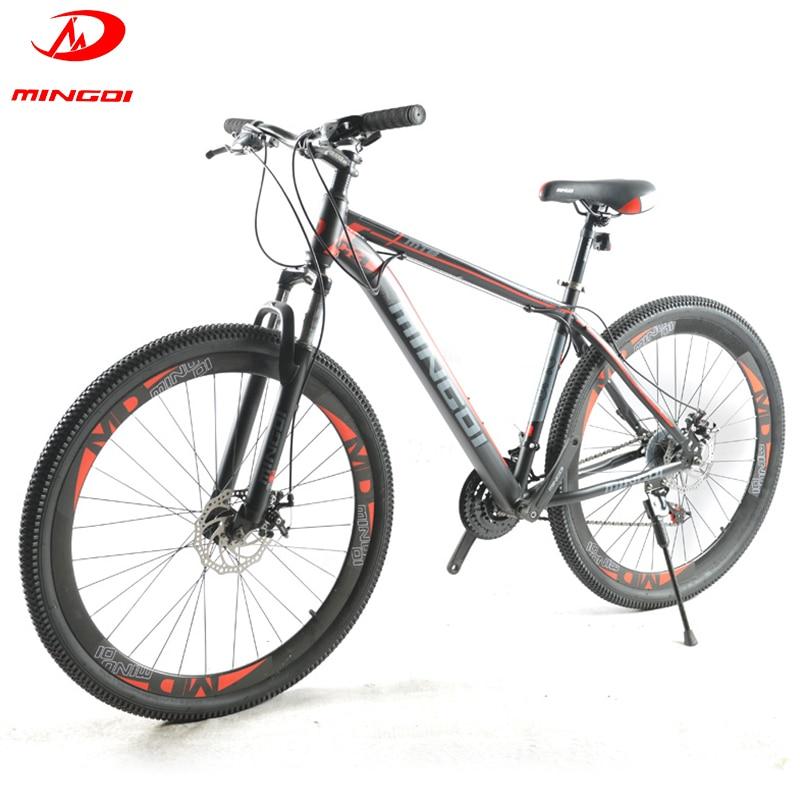 Высококачественный 29-дюймовый горный велосипед Рама из углеродистой стали 21-скоростной велосипед с регулируемой скоростью Взрослый внедо...