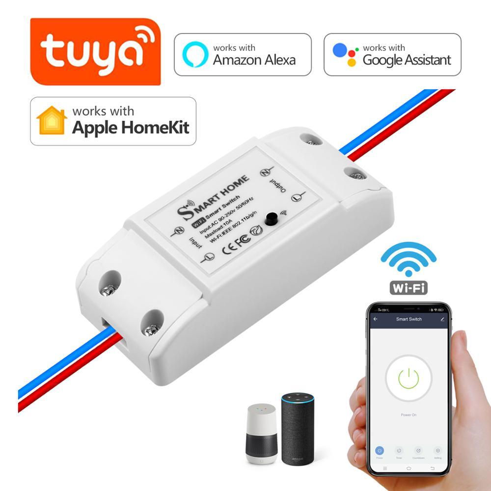 Умный выключатель Apple Homekit/Tuya, релейный выключатель, дистанционное управление Wi-Fi для Homekit, Amazon Alexa, Google Home, IFTTT