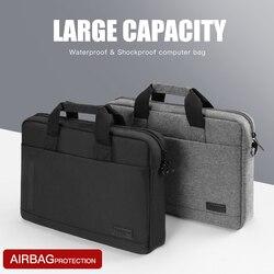 Bolsa para portátil luva caso de proteção bolsa de ombro notebook pastas para 13 14 15.6 polegada macbook ar hp lenovo dell alça superior