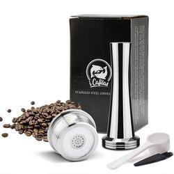 Capsula إعادة استخدام ل دلتا Q NDIQ7323 في مرشحات القهوة الفولاذ المقاوم للصدأ قابلة لإعادة الاستخدام القهوة كبسولة ل lavaza نقطة EP MINI