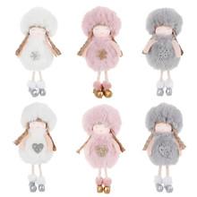 Ozdoby na choinkę świąteczne pluszowe wisiorek z aniołem lalki ozdoby świąteczne noworoczny prezent ozdoby choinkowe dla domu tanie tanio PD-496-503