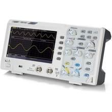 Osciloscópio de 2 canais de owon sds1102 sds1202 osciloscópio digital 100mhz largura de banda 1gs/s alta precisão osciloscópio