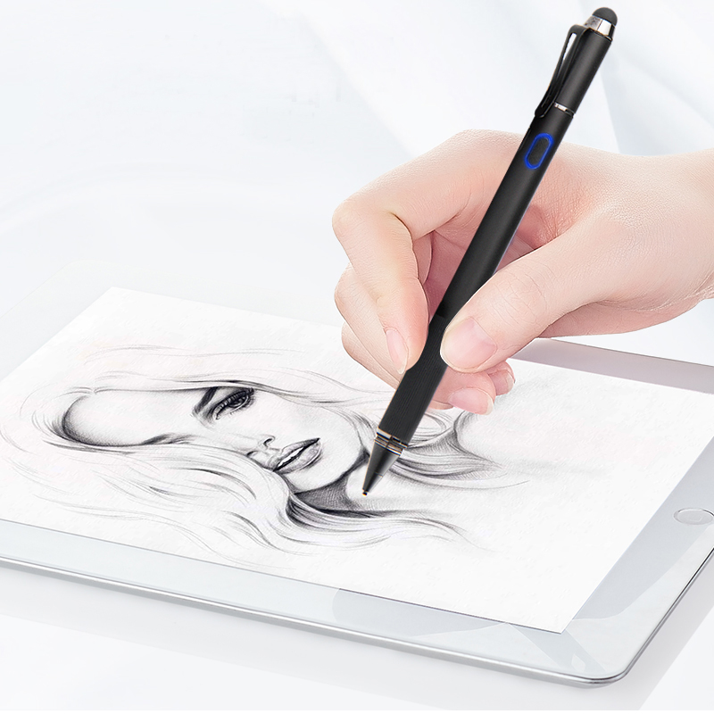 Persicon 2 In 1 Stylus Pen Touch Screen Pen Capacitive Universal Fine Point Tablet Touch Pen Draw For Apple IPad For Android