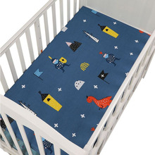 цена на 130*70cm Baby Crib Fitted Sheet Newborns Cot Mattress Cover Cotton Baby Bedding Cover Cartoon Baby Bed Sheet Nursing Bedding