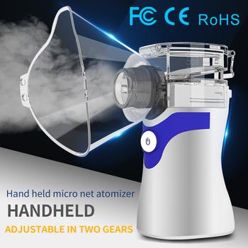 Przenośny ręczny inhalator siatki sprężarki inhalator ultradźwiękowy astma zapalenie gardła oskrzeti Mini Atomizer dla dzieci dorosłych tanie i dobre opinie CN (pochodzenie)