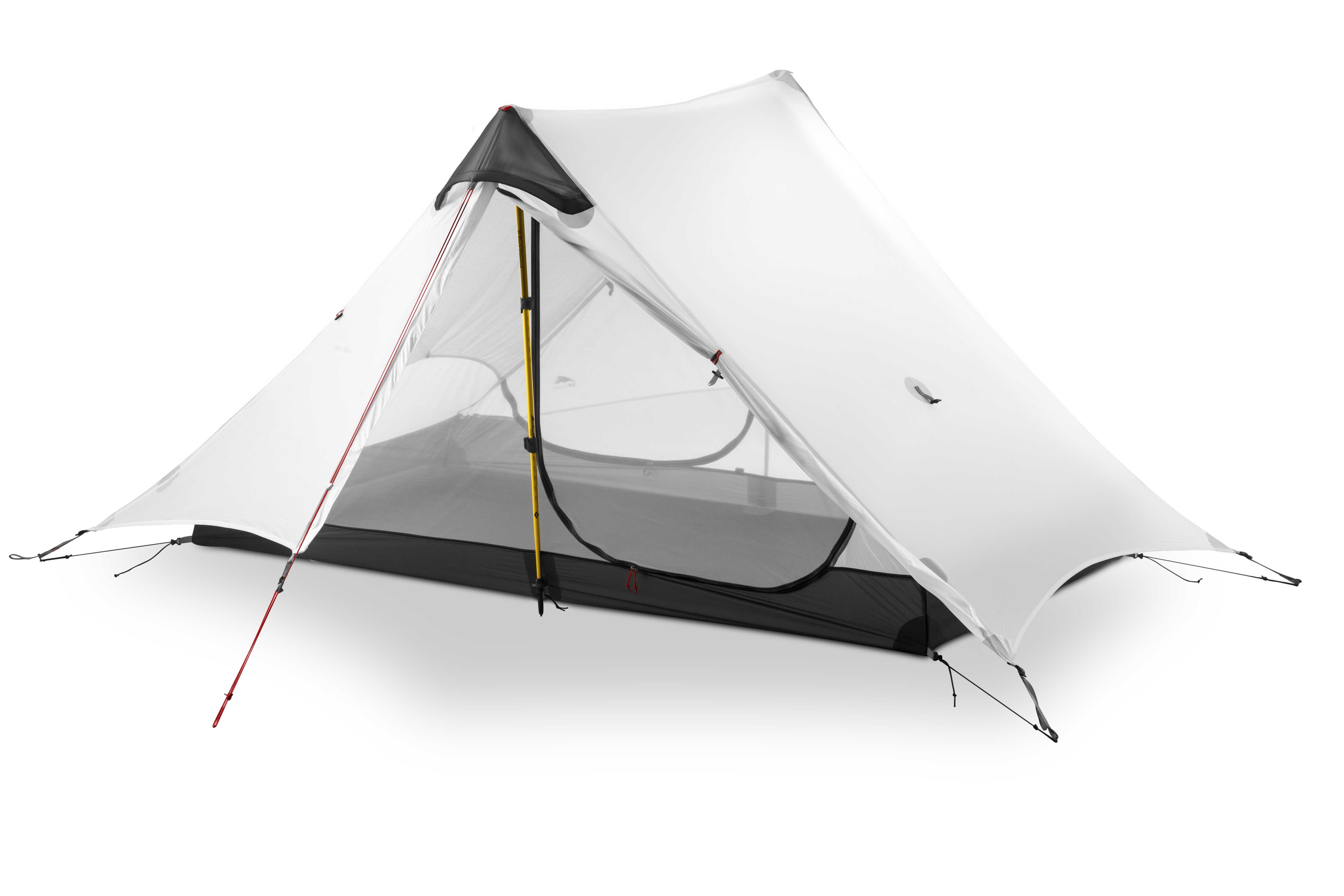 3F UL dişli 2019 lanshan 2 Rodless çadır 2 kişi profesyonel 15D Silnylon çadır açık Ultralight kamp çadırı 3 4 sezon çadır