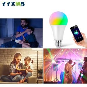 Image 5 - Светодиодная лампа YYXMB Smart Tuya WiFi E27 9 Вт, лампочка с регулируемой яркостью, совместимая с ECHO/Google Home/IFTTT, голосовое управление