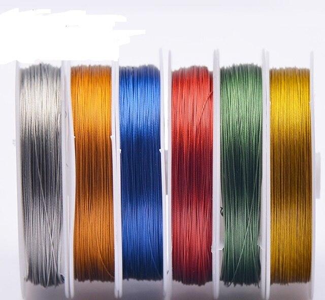 linha de aco colorida de o 45mm com pele de nailon para pesca teethful peixe ou