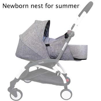 Bebê carrinho de bebê nascimento ninho recém-nascido saco de dormir acessórios para babyzen yoyo + yoya babytime carruagens cesta inverno