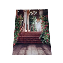 5*7Ft Beautiful Flower Palace Wedding Vinyl Photo Background Waterproof Printed Camera Photography Backdrop