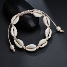 2019 Fashion Sea Shells Layered Charm Bracelets for Women Girl Bohemian Handmade Rope Chain Bangles Simple Beach Jewelry Joyeria