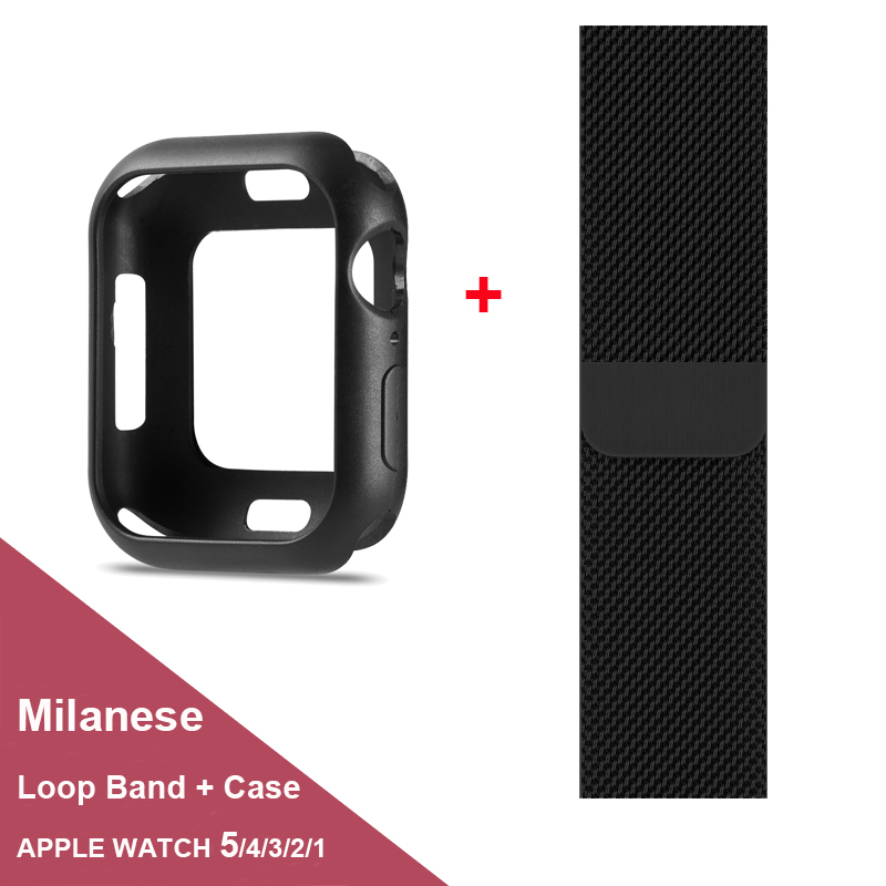 Pulsera Milanese Loop con funda para Apple Watch serie 5/4/3/2/1 38mm 42mm 40mm 44mm funda protectora de correa de muñeca para iwatch Bloques de construcción técnica Serie 3 en 1 ciudad figura de ingeniería mecánica ladrillo Compatible marcas juguetes educativos para niños