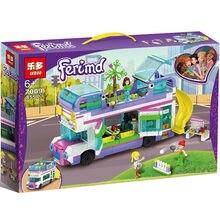 Amigos série 855 pces amizade ônibus compatível com lepining 41395 amigos blocos de construção tijolos brinquedos natal crianças