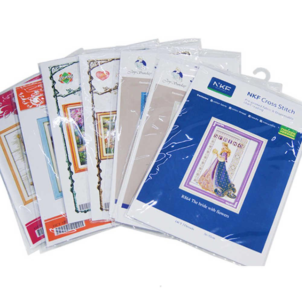 HUACAN di Ricamo A Punto Croce Animale 11CT 14CT Set di Punto Croce Cane Bianco di Tela Needlework Artigianato