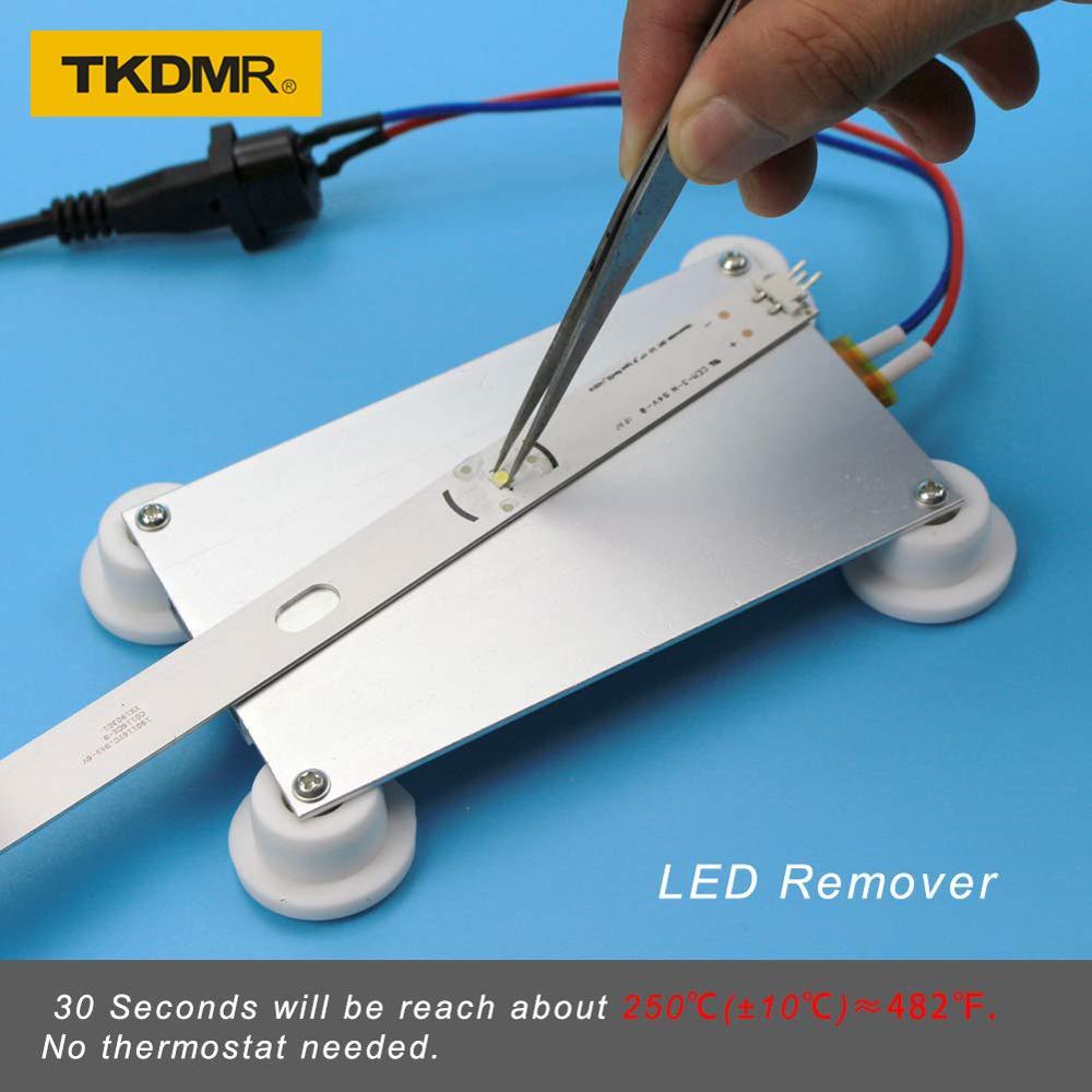 TKDMR 300W Aluminium LED Entferner PTC Heizung Platte Löten Chip Entfernen Schweiß BGA Solder Ball Station Split Platte