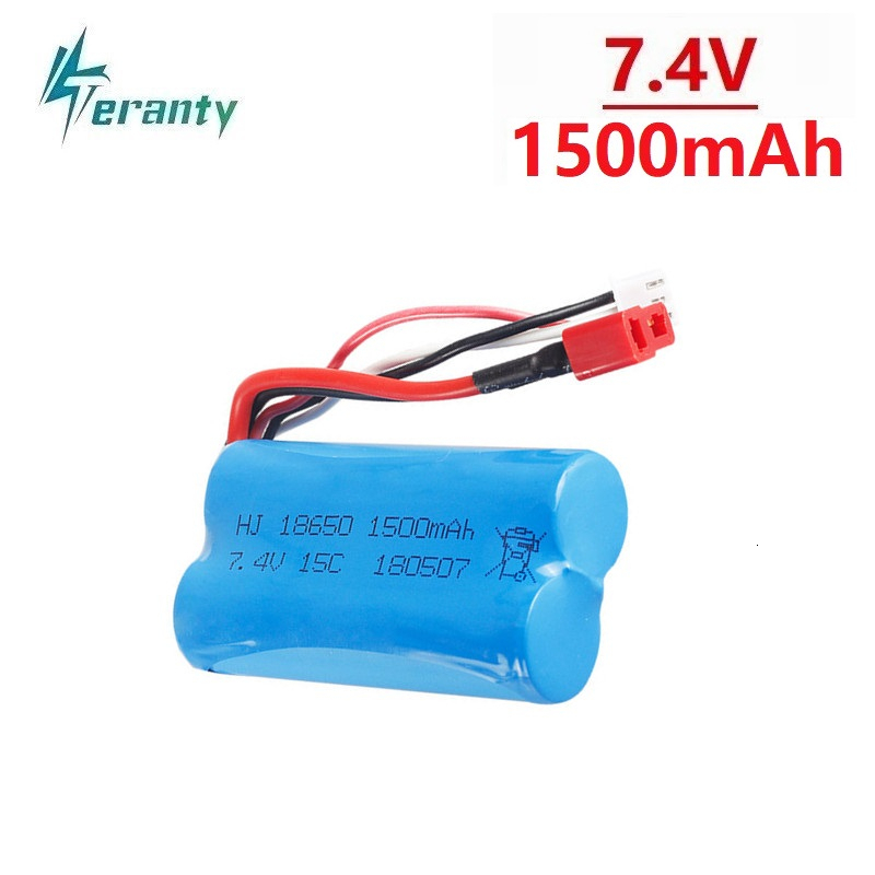 High-Discharge 7.4V 1500mAh 18650 For 12428 12401 12402 12403 12404 12423 RC Car Model Aircraft Helicopter 7.4 V Lithium Battery