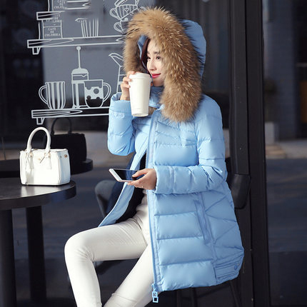 New Fashion 2020 Winter Jacket Women Parka Long Cloak Down Coats For Women Large Raccoon Fur Collar Outwear High Quality LX804