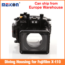 Meikon 40m/130ft Underwater Diving Camera Housing Waterproof Camera Bags Case for Fujifilm X-t10 (16-50mm) Camera