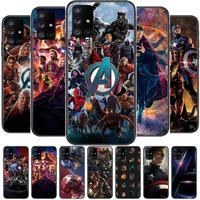 Marvel Comics Telefoon Case Romp Voor Samsung Galaxy A50 A51 A20 A71 A70 A40 A30 A31 A80 E 5G S Zwart Shell Art Mobiele Cove