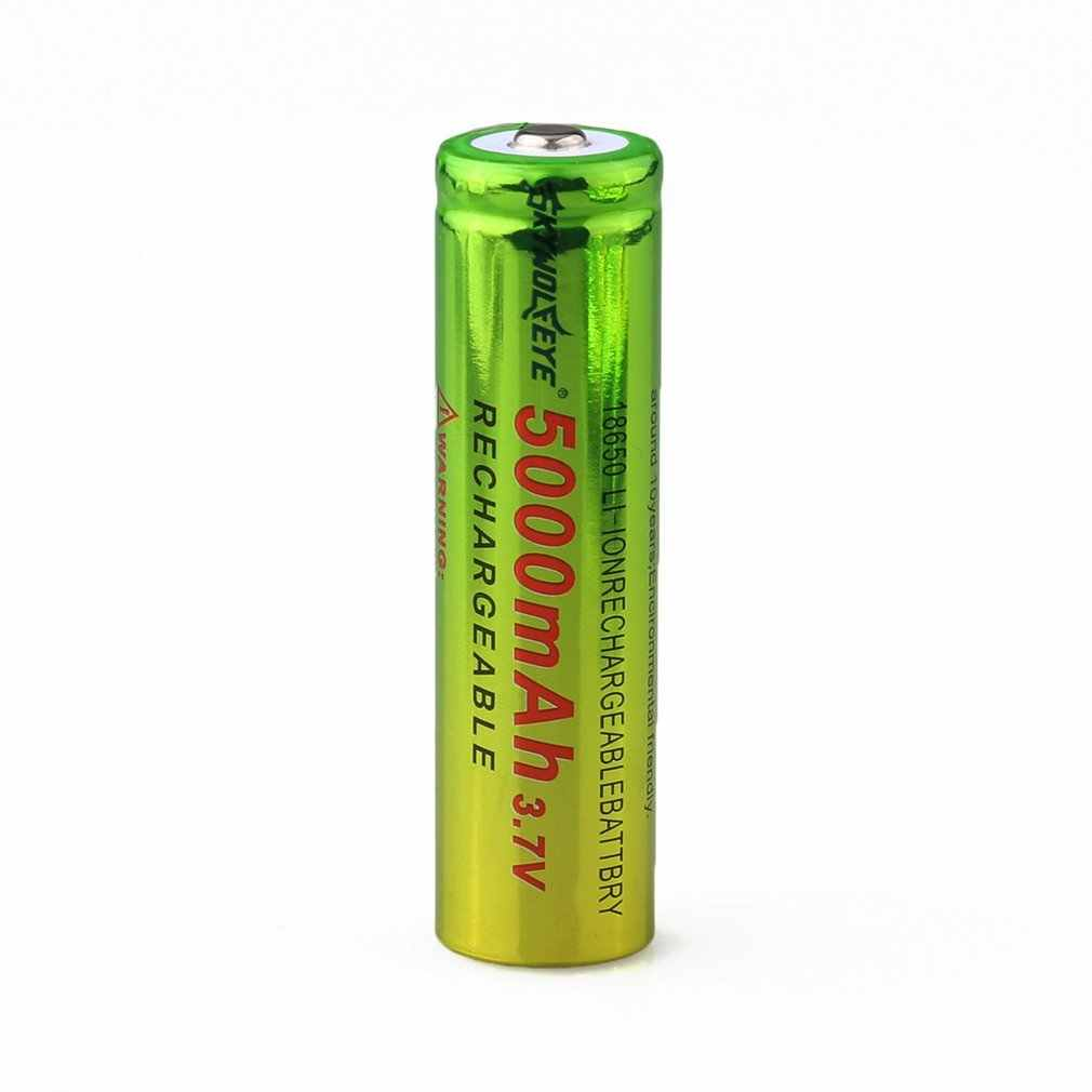 Skywolfeye 1pc 18650 3.7v Rechargeable Li-ion Battery 5800mAh Battery for LED Flashlight Torch Lighting Long Working Life