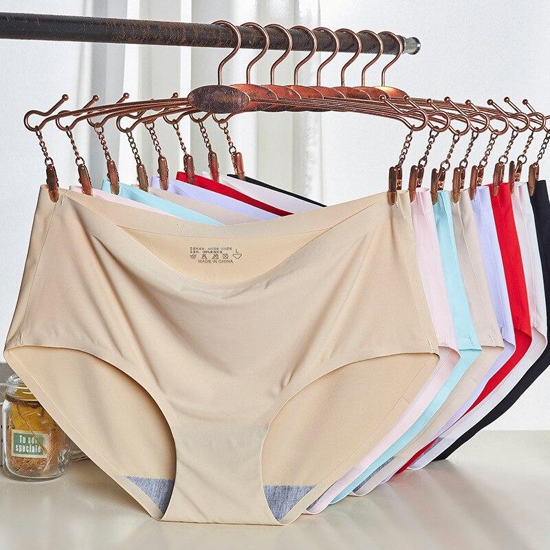 Women's Viscose Seemless WOMEN'S Panties Solid Knicker Breathable Medium Waist Sexy Panties 810