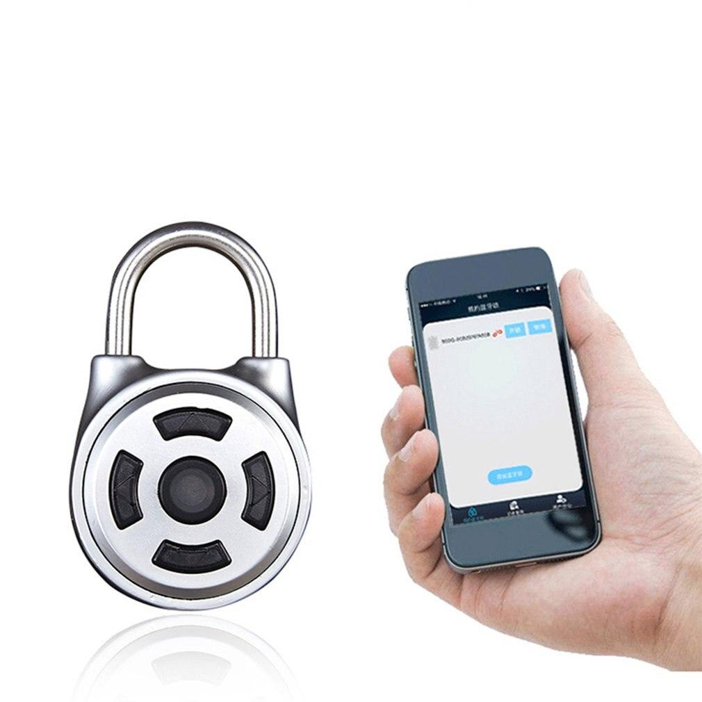 2019 Password Electronic Intelligent Bluetooth Fingerprint Password Padlock Home Door App Remote Management Mobile Phone Unlock