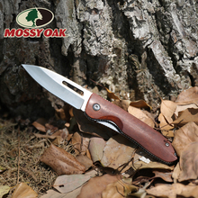 WORKPRO Folding Pocket Knife Utility Knife Blade Wood Handle Fruit Cutter Outdoor Multi Tool