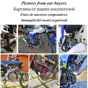 Image 5 - Motorfiets Olie Cooling Cooler Radiator Oliekoeler Set Voor 50 70 90 110 125 140cc Crossmotor Monkey Bike Dax pocket Bike Atv Motor