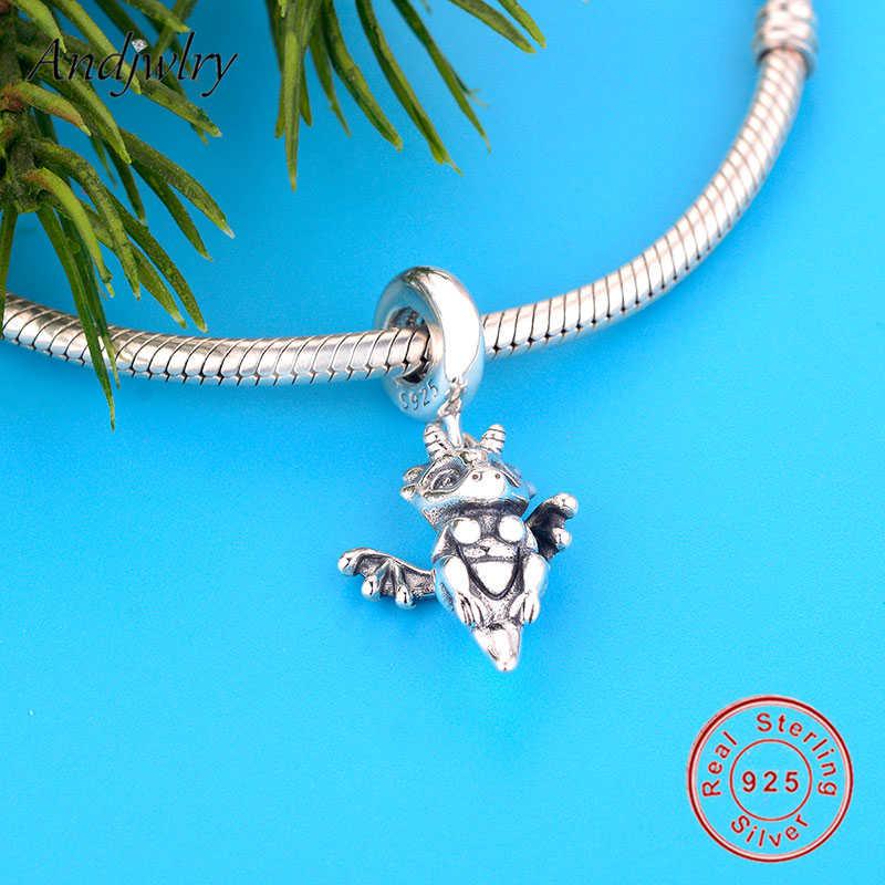 925 Sterling Silver Ciondola Fit Originale Pandora Pendenti e Ciondoli Braccialetti Si Sono Magia Drago Pendente di Fascino Monili Delle Donne di DIY Berloque