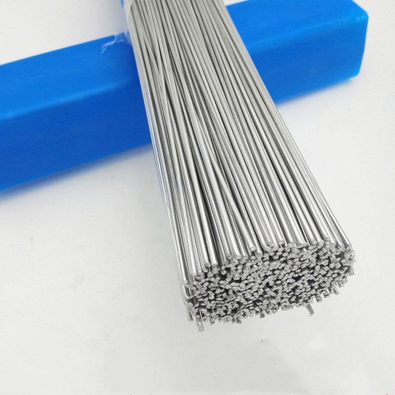 Varas de solda 1.6mm 2mm fácil fio de alumínio baixa temperatura sem necessidade de solda em pó 5/1 pces baixo ponto de fusão pára-choques reparação solda