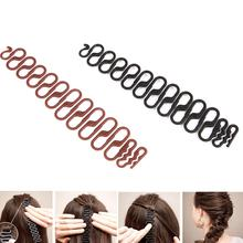 2019 New Fashion Women Retro Wave Styling Clip Bowknot Bun Braider Roller DIY Hair